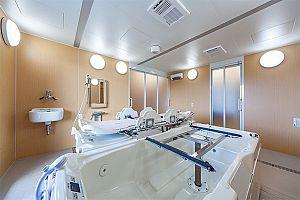 特殊寝台浴の浴場写真