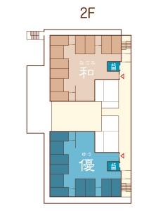 フロアマップ2階のイラスト