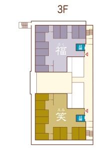 フロアマップ3階のイラスト