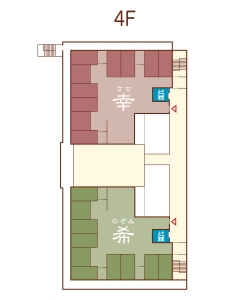 フロアマップ4階のイラスト